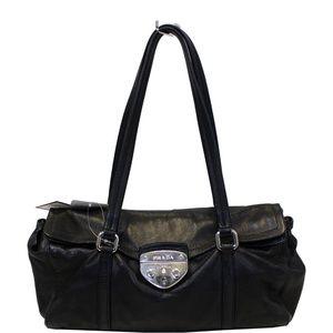 Prada Black Lambskin Leather Shoulder Bag